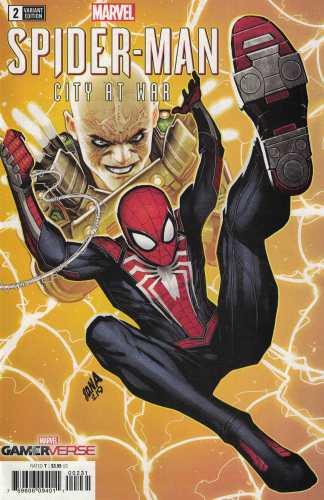 Spider-Man City at War #2 1:50 Dan Nakayama Variant Marvel GamerVerse 2019 PS4