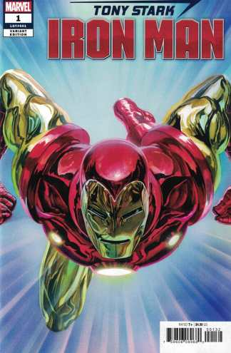 Tony Stark Iron Man #1 1:50 Alex Ross Trade Dress Variant Marvel 2018