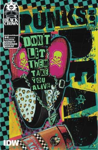 Punks Not Dead #4 1:10 Martin Simmonds RI Variant IDW 2018