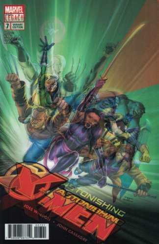 Astonishing X-Men #7 John Cassiday Lenticular #1 Homage Variant Marvel 2017