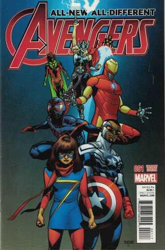 All New All Different Avengers #1 1:25 Mahmud Asrar Variant Marvel 2015
