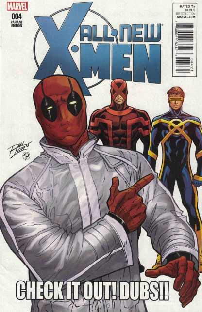 All New X-Men #4 1:10 Ron Lim Deadpool Variant Marvel 2015 Cyclops
