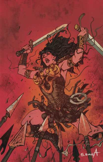 Xena Warrior Princess #6 1:10 Sergio Davila Virgin Variant Cover D Dynamite 2018