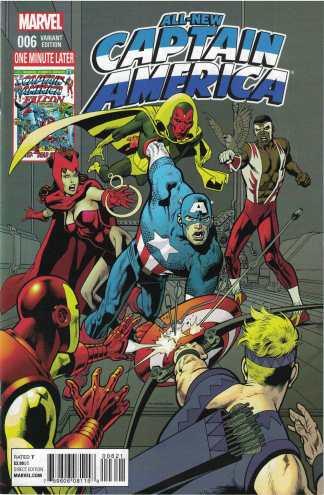 All New Captain America #6 1:15 Kevin Nowlan Avengers Variant Marvel 2015