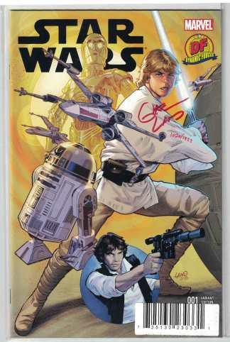 Star Wars #1 Dynamic Forces Greg Land SIGNED Variant Marvel 2015 COA #1099/1977