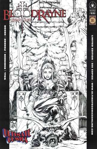 Bloodrayne Lycan Rex #1 Walker Ultimate Comics B&W Sketch Variant 2005