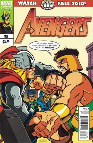 Avengers #5 1:15 Castellani Superhero Squad Variant Thor vs Hercules Marvel 2010