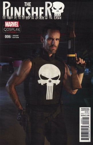 Punisher #6 1:15 Cosplay Photo Variant Marvel ANAD 2016 Cloonan Dillon