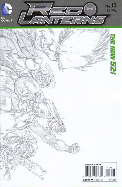 Red Lanterns #13 1:25 Sketch Variant The New 52!