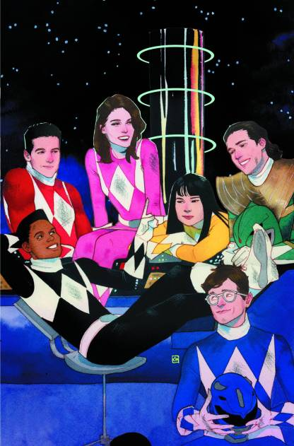 Mighty Morphin Power Rangers #1 1:50 Kevin Wada Team Variant Boom! 2016