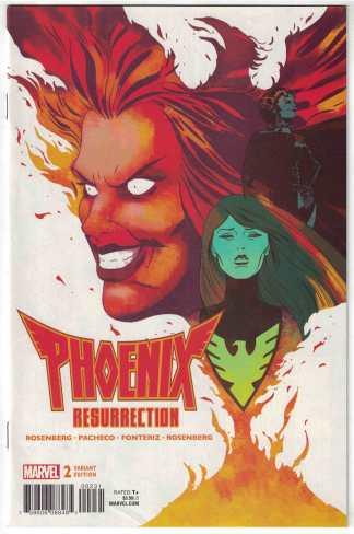 Phoenix Resurrection #2 1:25 Marcos Martin Variant Marvel 2017 X-Men VF/NM