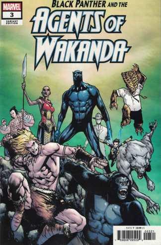 Black Panther Agents of Wakanda #3 1:25 Humberto Ramos Variant Marvel 2019