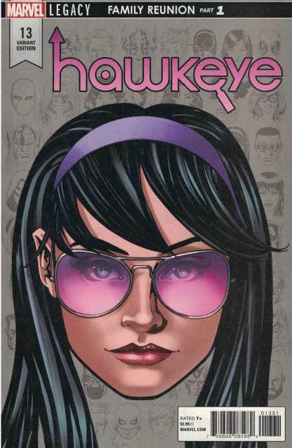 Hawkeye #13 1:10 Mike McKone Headshot Variant Marvel Legacy 2016