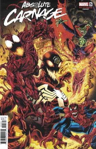 Absolute Carnage #5 1:25 Mark Bagley Cult of Carnage Variant Marvel 2019 Venom