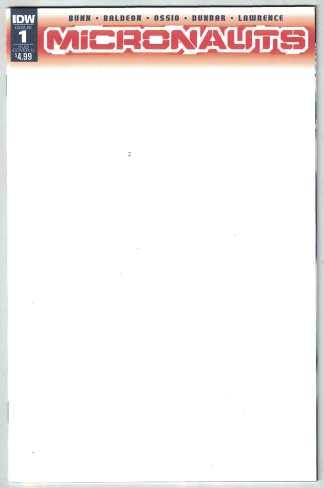 Micronauts #1 Blank Sketch Variant Cullen Bunn IDW 2016 VF/NM