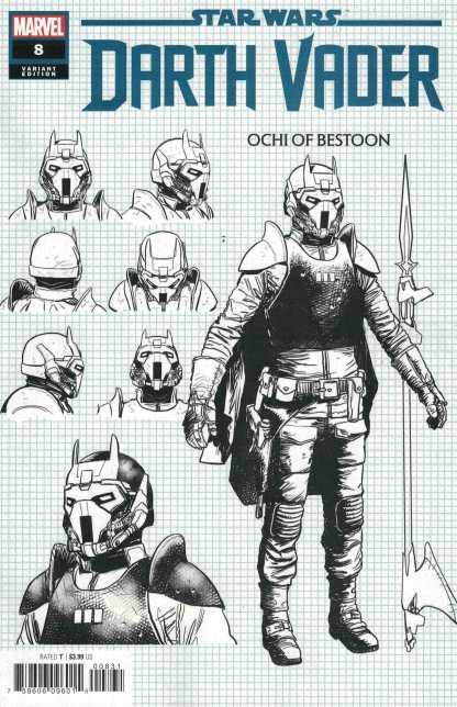 Star Wars Darth Vader #8 1:10 Raffaele Ienco Design Variant Marvel 2020