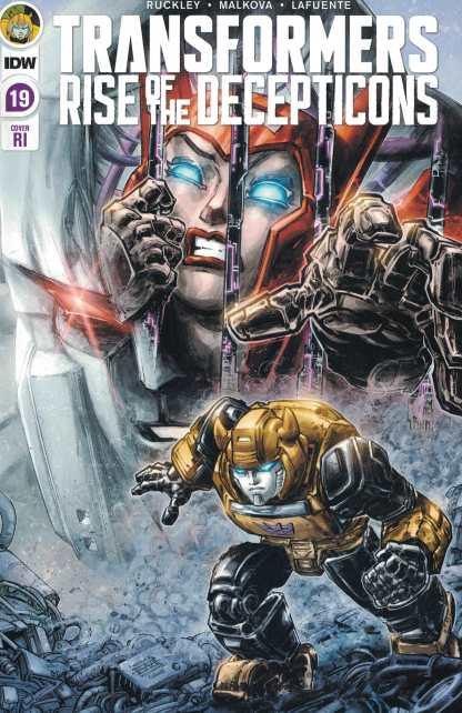 Transformers #19 1:10 Freddie Williams II Variant IDW 2019 Rise Decepticons