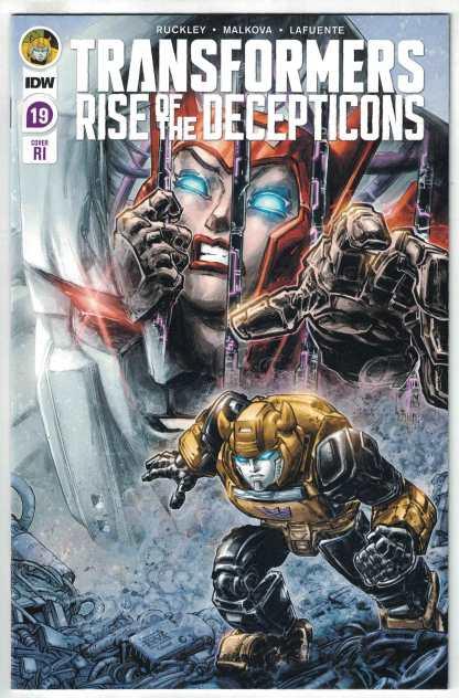 Transformers #19 1:10 Freddie Williams II Variant IDW Rise Decepticons VF/NM