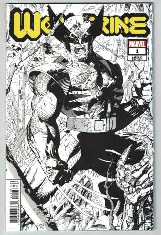 Wolverine #1 1:500 Jim Lee Hidden Gem B&W Sketch Variant 2020 DX Dawn of X-Men