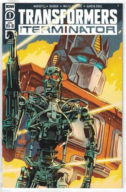 Transformers Terminator #1 1:25 Francesco Francavilla Variant IDW 2020 VF/NM