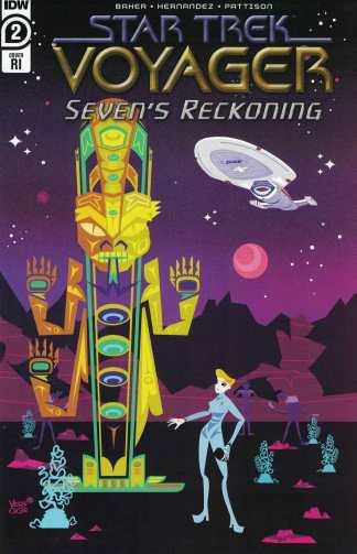 Star Trek Voyager Sevens Reckoning #2 1:10 Jeffrey Veregge Variant IDW 2020