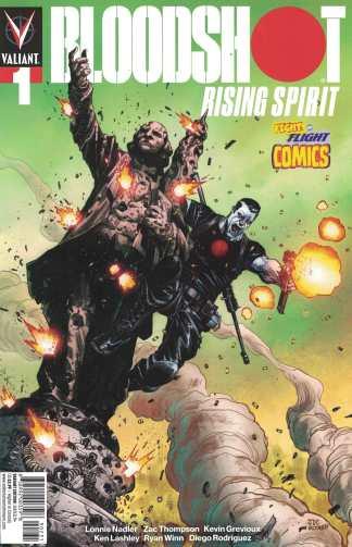 Bloodshot Rising Spirit #1 Cassara Fight or Flight Comics Exclusive Valiant 2018