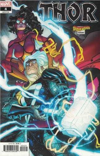 Thor #4 Javi Garron Spider-Woman Variant Marvel 2020 Donny Cates