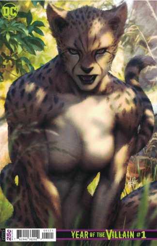 DC Year of the Villain #1 1:100 Artgerm Stanley Lau Cheetah Variant FCBD 2019