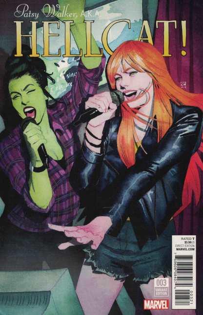 Patsy Walker AKA Hellcat #3 1:25 Kevin Wada Variant Marvel ANAD 2016 She Hulk