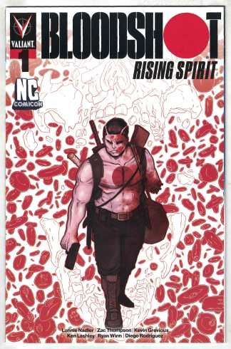 Bloodshot Rising Spirit #1 Ben Bishop NC Comicon Variant Valiant 2018 VF/NM