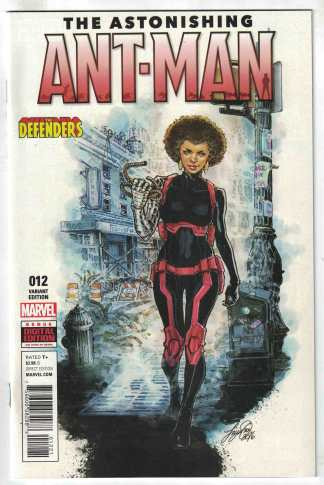 Astonishing Ant-Man #12 Siya Oum Defenders Variant Marvel 2016 VF/NM