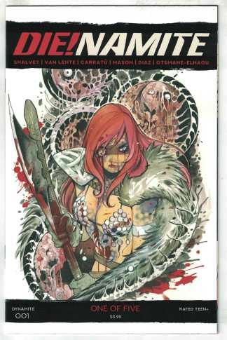 Die!namite #1 1:20 Peach Momoko Zombie Red Sonja Variant Dynamite 2020 VF/NM