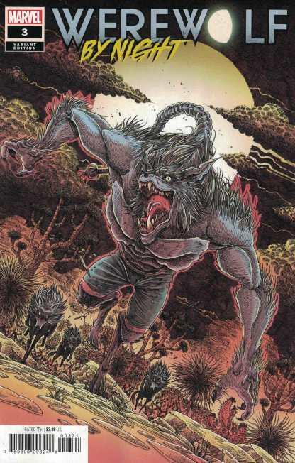 Werewolf by Night #3 1:25 James Stokoe Variant Marvel 2020