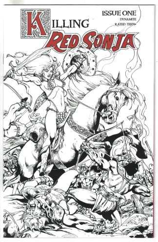 Killing Red Sonja #1 1:7 Roberto Castro FOC Variant Dynamite 2020 VF/NM