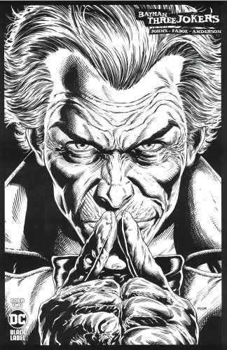 Batman Three Jokers #2 1:100 Jason Fabok Black & White Variant DC 2020