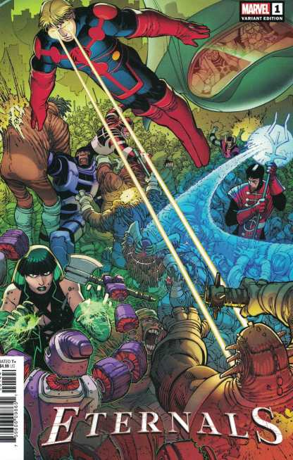 Eternals #1 1:50 John Romita Jr JRJR Hidden Gem Variant Marvel 2021 Gillen Ribic