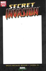 Secret Invasion #1 Blank Sketch Variant Marvel 2008