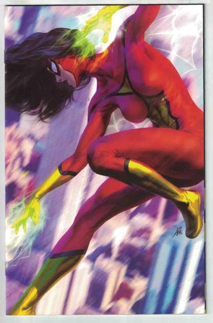Spider-Woman #1 1:500 Stanley Artgerm Lau Virgin Variant Marvel 2020 VF/NM
