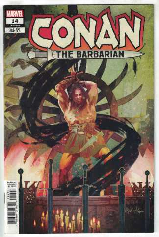 Conan the Barbarian #14 1:25 Tommy Lee Edwards Variant Marvel 2018 VF/NM