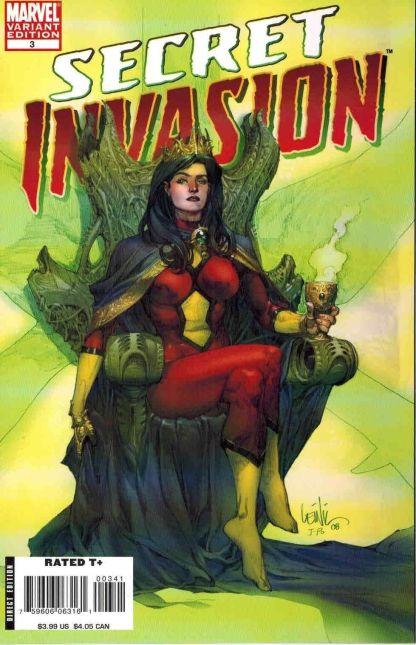 Secret Invasion #3 1:50 Lenil Francis Yu Skrull Queen Variant