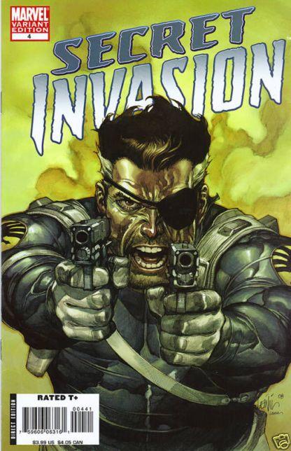 Secret Invasion #4 Leinil Yu Color Nick Fury Variant Marvel 2008