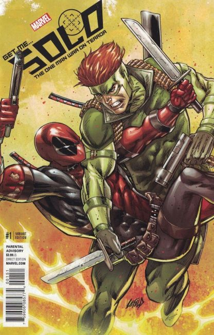 Solo #1 1:50 Rob Liefeld Color Variant NOW Marvel 2016 Deadpool HTF Rare