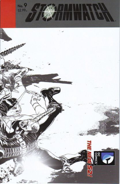 Stormwatch #9 Black and White Miguel Sepulveda Sketch Variant