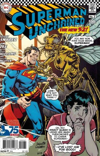 Superman Unchained #2 Yanick Paquette Silver Age Variant Lois Lane Insect Queen