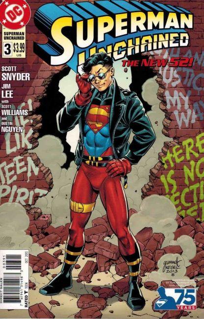 Superman Unchained #3 Tom Grummett Superman Reborn Variant Jim Lee Scott Snyder