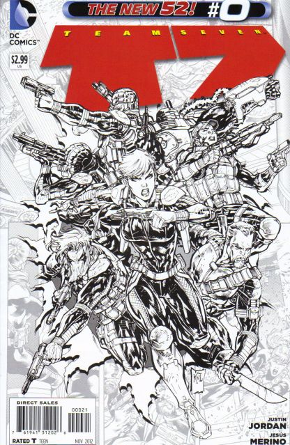 Team Seven #0 Black and White Jesus Merino Sketch Variant