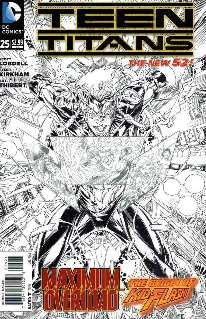 Teen Titans #25 1:25 Brett Booth Black and White Variant