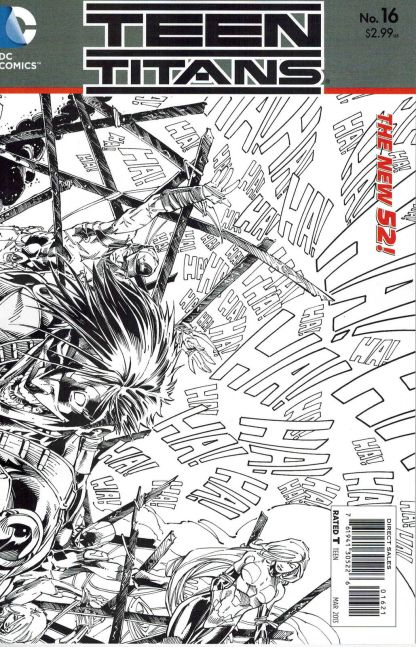 Teen Titans (New 52) #16 Black and White Brett Booth Sketch variant