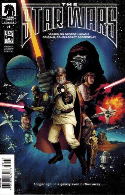 The Star Wars #1 1:40 Doug Wheatley Variant Dark Horse 2013 Lucas Draft