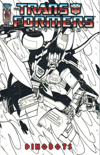 Transformers: Best of the UK - Dinobots #3 Nick Roche Sketch Variant